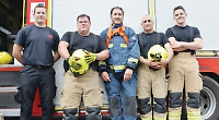 Would-be recruits put to the test by firefighters