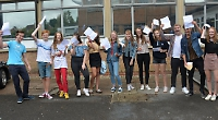 Students celebrate GCSEs despite tougher marking system