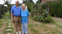 Gardening couple thwart heatwave to win competition
