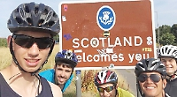 Boys cycle length of the country for charity