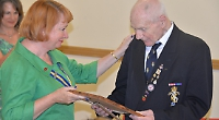 Legion standard bearer presented with another award