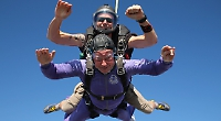 Couple celebrate 60 years of marriage with a skydive