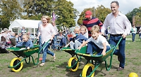 Picnickers enjoy party in the park