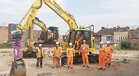 Digger breaks ground at new development