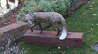 £4,500 bronze fox statue stolen from riverside garden