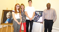 A-level art students chosen for competition