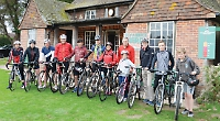 Cricketers get on bikes to help sports pavilion appeal
