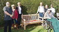 Village installs bench to remember community stalwart