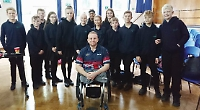 Pupils inspired by disabled athlete
