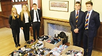 Pupils collect pants and toiletries for homeless