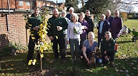 Fruit trees planted at recreation ground