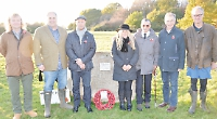 Sandstone boulder honours the fallen