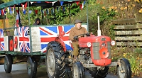 Remembrance Day tractor run stops at Hundred Tree Wood for silent tribute