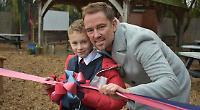 TV presenter unveils school's quiet garden in memory of wife