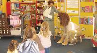 'Lion' visits village library
