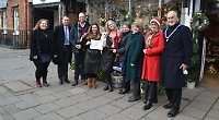 Florist wins Christmas window display competition