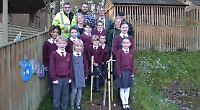 Prize walnut tree planted at school