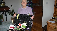 Hamper winner to share goodies with family