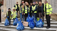 Volunteers clear litter from town centre