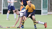 Hughes-Burne nets hat-trick as amber and blues hit back