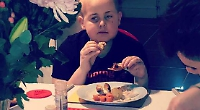 Brave boy's belated Christmas between cancer treatments