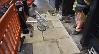 York stone pavement slabs finally replaced by utility firm