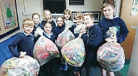 School earns cash by collecting rubbish for recycling