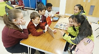 Pupils enjoy meeting Chinese counterparts