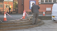 Church steps damaged by skateboarders fixed