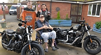 Biker relives memories with visit of two Harleys