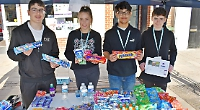 Business students set up 'tuck shop' in aid of charity