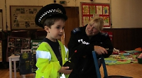 Police visit nursery children