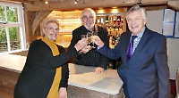 Actor unveils new bar at riverside theatre