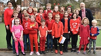 School assembly a sea of red for Comic Relief