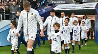 Boy leads out England at Twickenham just two months after brain surgery