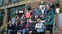 Staff run for Comic Relief