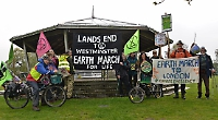 Climate change protest march passes through Henley