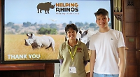 Rhino conservation expert visits school