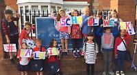 Children enjoy taking part in Walk to School Week