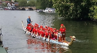 Mothers row 20 miles in dragon boat for school