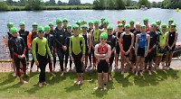 Youngsters take part in mini triathlon event