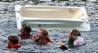Racers fall out of their bath at Hurley Regatta