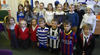 Children dress up as heroes