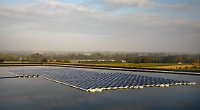 Floating solar panels at a Wargrave fruit farm