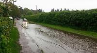 Greys Road suffers flash flood