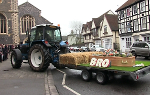 Tractor leads Henley man's funeral procession