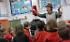 CBeebies' Mr Bloom visits school