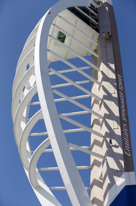 ICONIC:  The Emirates Spinnaker Tower.